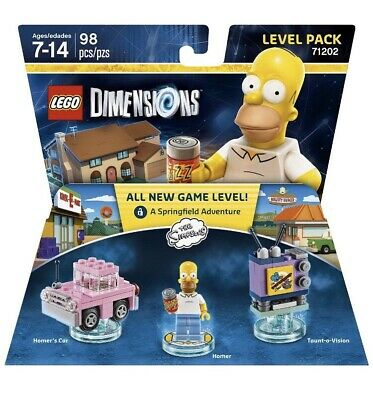 NEW Lego Dimensions Homer Simpson Springfield Level Pack 71202
