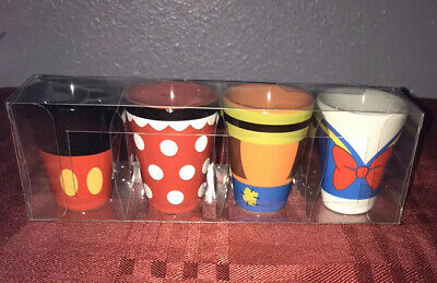 Disney Parks Collectible Shot Glass Set Mickey, Minnie, Donald and Goofy
