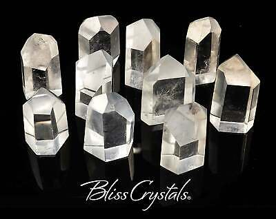 1 Large Clear Quartz Point Faceted Crystal Generator Healing Crystal #CQ03