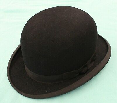Vintage gentleman's black bowler by Woodrow of Picadilly, excellent condition