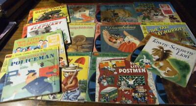 LITTLE GOLDEN BOOKS & RECORDS....Bulk lot x 18....4 with records only