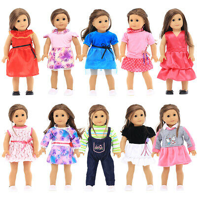 10 Sets 18'' Doll Clothes for Our Generation Doll, My Generation Doll, and So On
