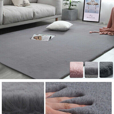 Soft Fluffy Modern Area Rugs Wool Shaggy Living Room Carpet Faux Rabbit Fur Deco