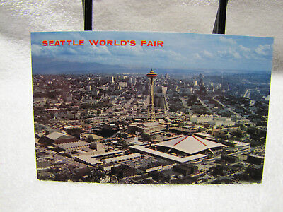 1962 Seattle World's Fair Aerial View of the Fair & Space Needle Post Card