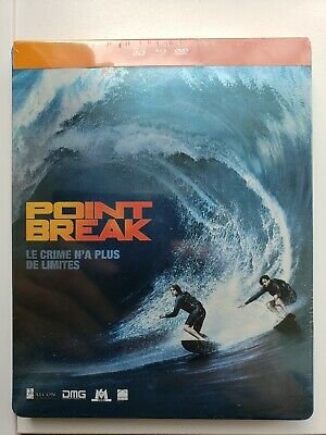 BLU RAY STEELBOOK POINT BREAK 3D + 2D + DVD Edition française NEUF
