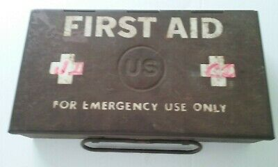 Pre - Early WWII US ARMY military vehicle FIRST AID KIT; fully stocked - RARE