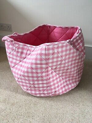 jojo mama bebe storage basket medium pink in colour