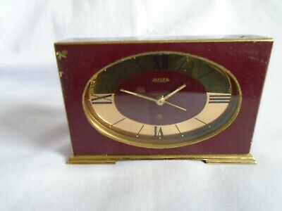 Vintage Jaeger (France) Desk / Alarm Clock In Working Order, Has Some Issues