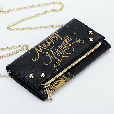 Black Harry Potter Letter to Hogwarts Sidekick Clutch Wallet Handbag Purs  New