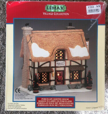 Lemax Village Collection Pollys Groceries Porcelain Lighted House
