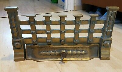 Brass Fire Front Fret Vintage Grate Front Open Decorative Surround Pan Cover