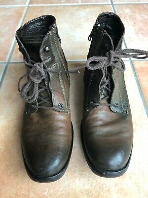 AIRSTEP A.S.98 ITALY Stiefel 46 LEDER Men Boots Braun Used