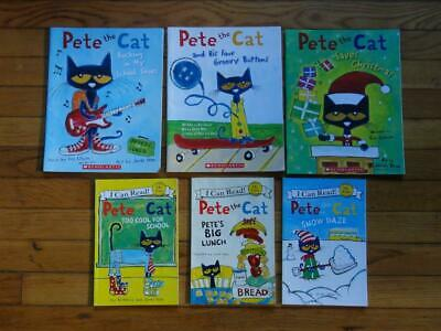 6 PETE THE CAT  CHILDRENS PICTURE BOOKS by ERIC LITWIN & MY FIRST READERS