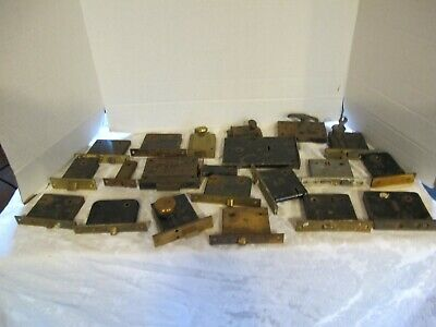 Ant./Vtg. Salvage Mortise Door Locks & Dead Bolts Lot 21 Pcs.Russwin Corbin Yale