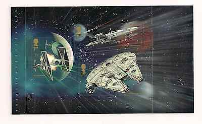 2015 Gb Qe2 Dy15 Star Wars Commemorative Prestige Stamp Book Pane Dp491 Mnh