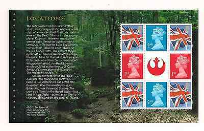 2015 Gb Qe2 Dy15 Star Wars Commemorative Prestige Stamp Book Pane Dp492 Mnh