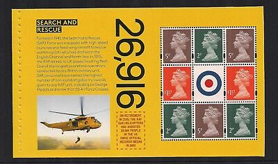 2018 Gb Royal Mail Dy25 The Raf Centenary Prestige Stamp Book Pane 5 Mnh