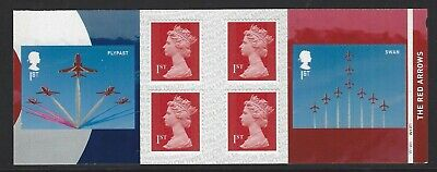 2018 Royal Mail 6 1St Class Sa Stamp Book Raf Centenary Pm60 Red Arrows Cyl