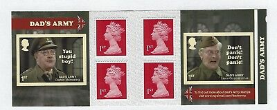 2018 Gb Qe2  6 X1St Class Dads Army Definitive Stamp Book Pm61 Mnh Non Cyl