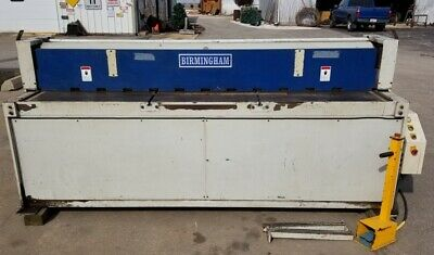 Birmingham 8' x 10 Gauge Power Shear, Model 1-10010, 7-1/2 HP 3 Phase 220 Volt