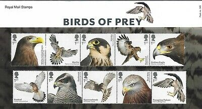 2019 Gb Qe2 Commemorative Stamp Presentation Pack No 569 Birds Of Prey Mnh