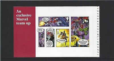 2019 Gb Royal Mail Dy29 Marvel Heroes Uk Commemorative Prestige Stamp Pane 3