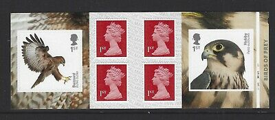 2019 Royal Mail 6 X 1St Class Self Adhesive Stamp Book Birds Of Prey Pm66 Cyl