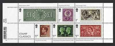 2019 Gb Qe2 Royal Mail Commemorative Miniature Sheet Stamp Classics Barcoded