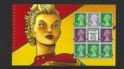 2019 Gb Royal Mail Dy29 Marvel Heroes Uk Definitive Prestige Stamp Pane 5
