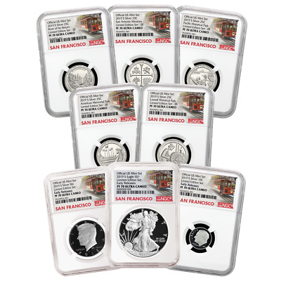 2019-S Limited Edition Silver Proof Set 8pc. NGC PF70 Trolley ER Label