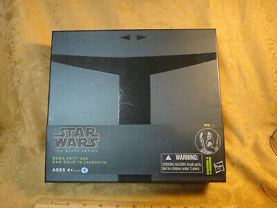 Star Wars The Black Series Boba Fett And Han Solo In Carbonite SDCC 2013