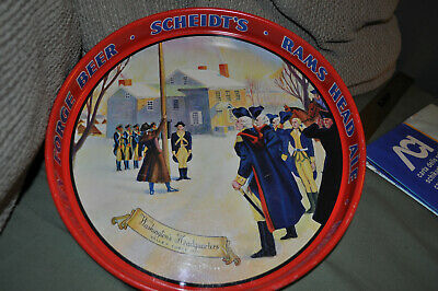 Metal Beer Tray Scheidt's Brewing Norristown PA Washington HQ Valley Forge ALE !