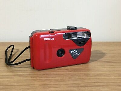Vintage Konica Pop Junior 35mm Film Camera Red - Point And Shoot - Lomography