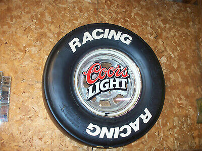 """Coors Light Beer Racing Sign Tire Lights  Large 27""""   Rare 2001"""