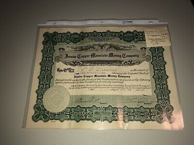NEVADA 1918 Jumbo Copper Mountain Mining Company Stock Certificate Goldfield, NV