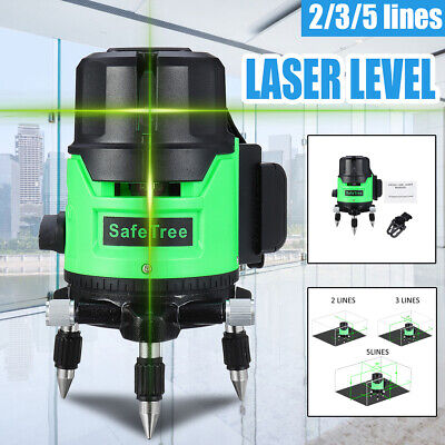 2/3/5 Line Self Leveling Green Laser Level Outdoor 360° Rotating Auto