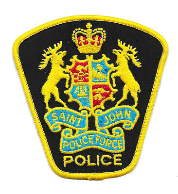Police Patch Canada St Saint John Force New Brunswick Shoulder Constable Sheriff