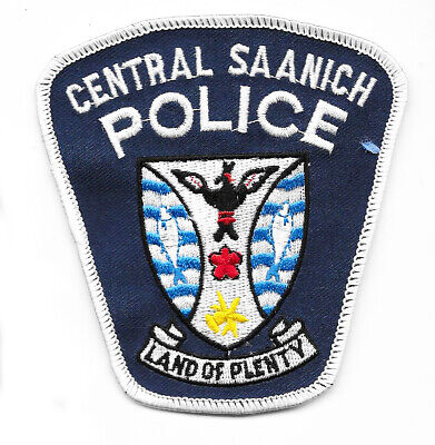 Police Patch Canada Central Saanich Bc British Columbia Land Of Plenty Constable