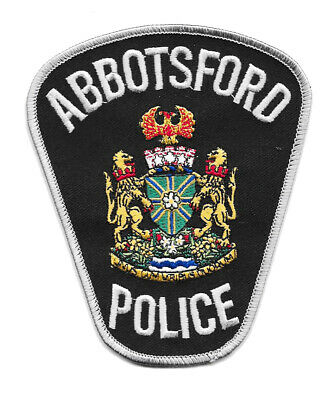 Police Patch Canada Abbottsford British Columbia Bc Fraser River Vancouver Pd