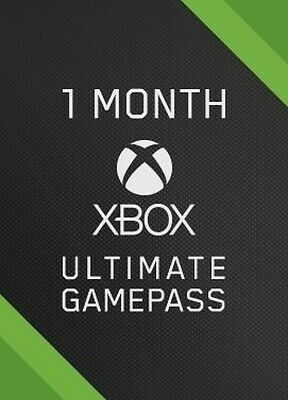 Xbox One Game Pass Ultimate 1 Month *Read Description*