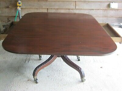Large Regency Flame Mahogany Dining Table To Seat 8