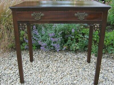 Extremely Fine George Iii Chinese Chippendale Mahogany Side Table