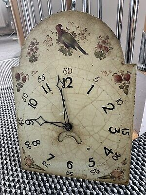 Rare Project Smiths Of Derby Longcase Grandfather Case Wall Clock Face Workings