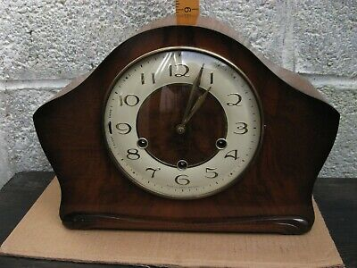 Smiths Mantle Clock Westminster Chime With Key.