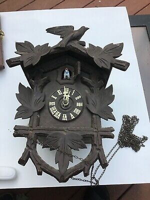 Antique Hubert Herr Triberg Germany 8 Day Cuckoo Clock- For Parts Or Restoration