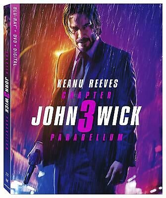 John Wick Chapter 3 Parabellum (Blu-ray+DVD+UV, 2019) New Release