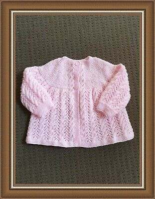 Pretty 4ply H/knitted Matinee Jacket.000 NEW