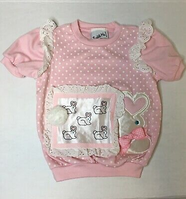 Vintage Toddler Girl Shirt Top By Tickle Me Bunny Design Size 2-3t EUC