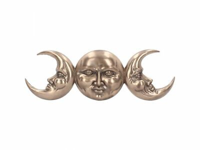 Triple Moon Wall Mount 38 cm Bronze Finish Witch Wicca Pagan Occult