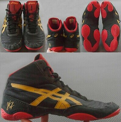 ASICS JB Elite V2 Wrestling Shoes Men's Size US 11 EUR 44 Black Olympic Gold Red
